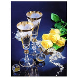Rose Wine Glass Round