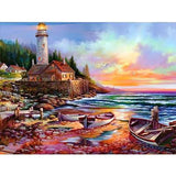 Seaside Lighthouse Diamond Painting