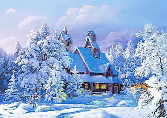 Snowy Winter Scene Diamond Painting