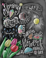 Spring Chalkboard Diamond Painting