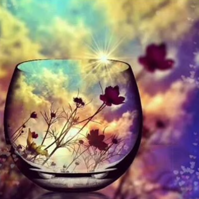 Sun in a Glass Diamond Painting