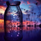 Sunset in a Jar Diamond Painting