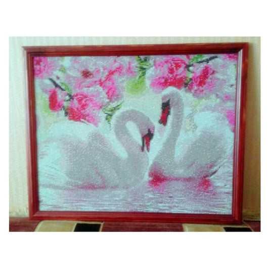 Swan Crystal Drawing Diamond Painting