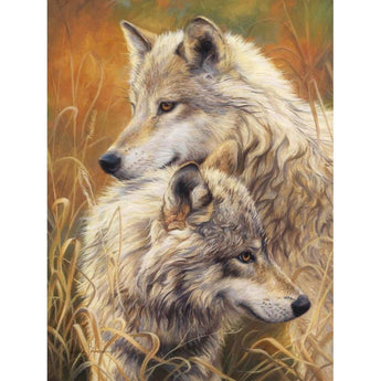 Two Wolves Diamond Painting