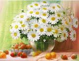 White Daffodils Diamond painting