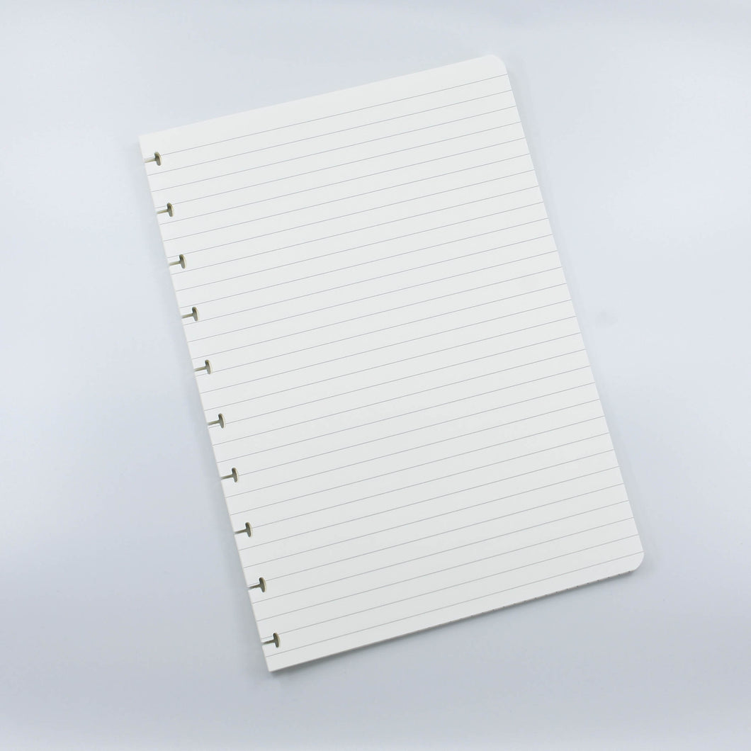 Ruled notebook pages refill