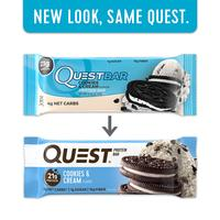 Quest Bar COOKIES & CREAM 1 Box/12Bars