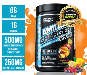 Nutrex Amino Charger Hydration 30servings - MangoBerry Lemonade