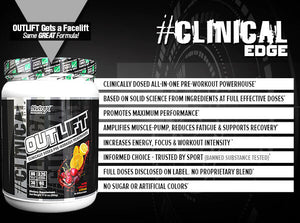 Nutrex Outlift Clinical Edge 20 Servings - Miami Vice