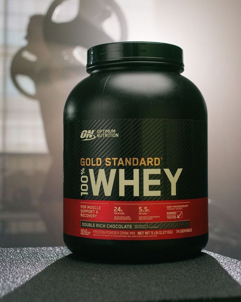 Optimum Nutrition Gold Standard 100% Whey 1lb - Double Rich Chocolate เวย์โปรตีนสร้างกล้ามเนื้อ
