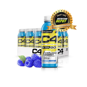 Cellucor C4 On The Go 11.7OZ 1 Pack 12 Bottles  -  Icy Blue Razz