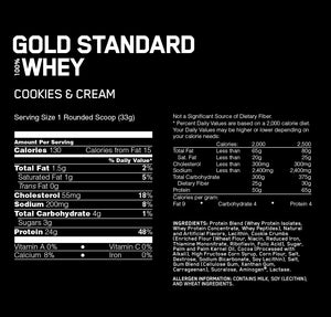 ON Gold Standard Whey 2 lbs - Cookie & Cream