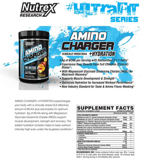 Nutrex Amino Charger Hydration 30servings - Peach Pineapple