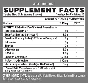 Nutrex Outlift Clinical Edge 10 Servings - Fruit Punch