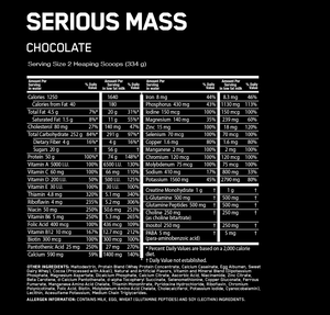 ON Serious Mass 6lbs -  Chocolate