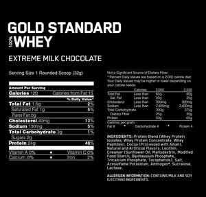 Optimum Nutrition Gold Standard 100% Whey 5lbs - Double Rich Chocolate เวย์โปรตีนสร้างกล้ามเนื้อ