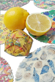 Beeswax Wraps for Lemons & Dipping Pots