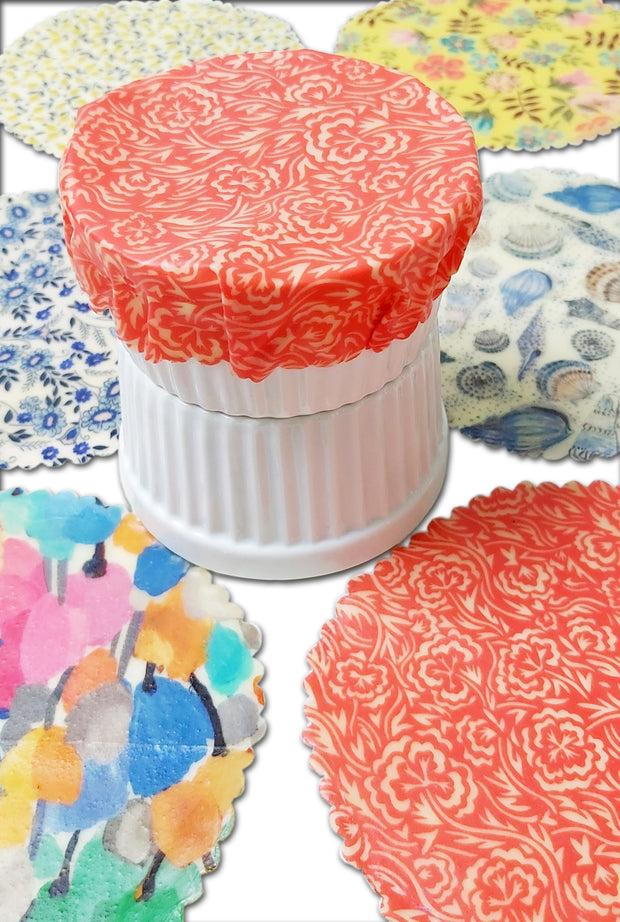 Beeswax Wraps for Limes & Ramekin Pots