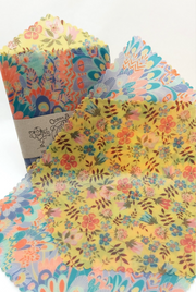 Beeswax Wraps Handy Hex & Rectangle-Set of 2