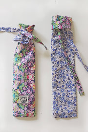 Cutlery bag, liberty print, blue, strawberry thief