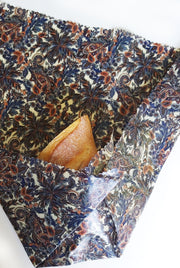 Beeswax wrap-Bread Liberty print paisley palms