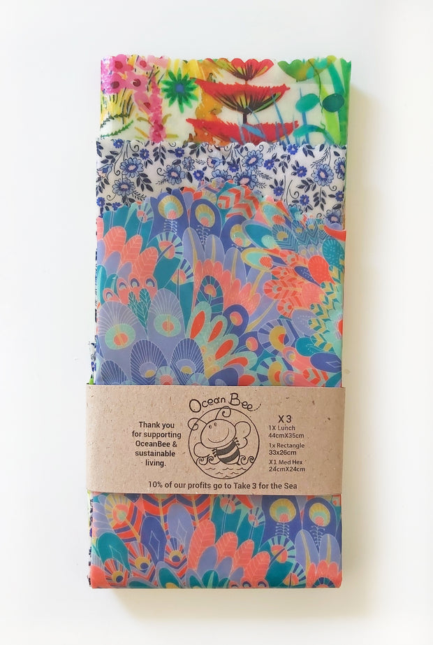 Beeswax Wraps Stellar - Set of 3