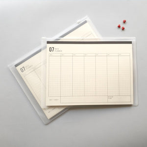 KaRiniTi Design studio, Obsessions with stationery products and paper goods. 7 Days Weekly Planner Notepad Paper Block