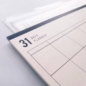 31 Days Planner - Monthly Organizer