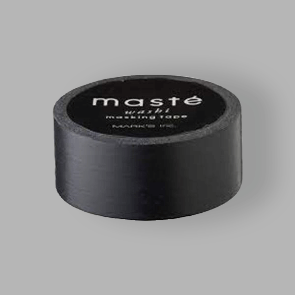 Washi Masking Tape - Black