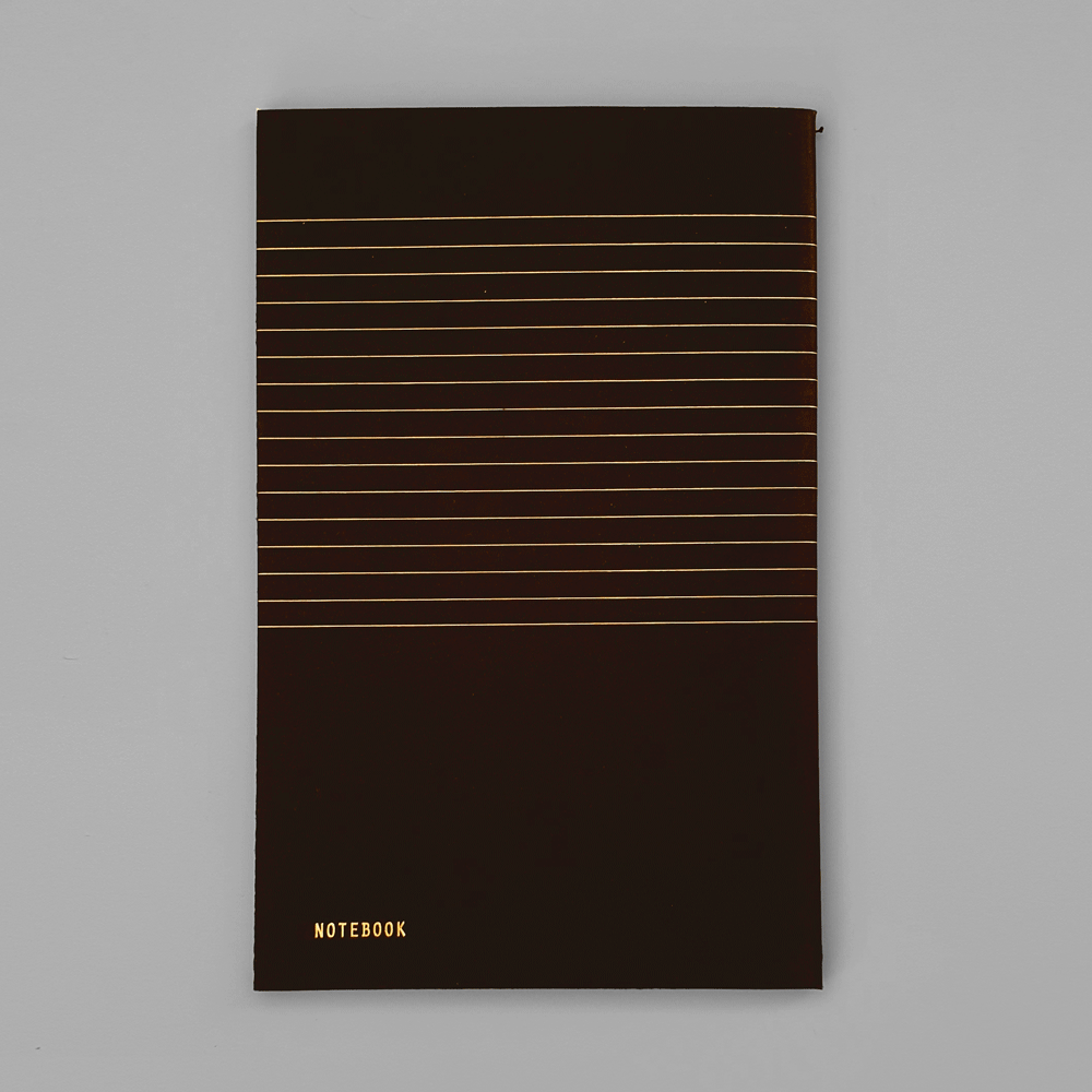 KaRiniTi Black Notebook - Softcover, 40 pages notebooks with Gold foil pattern on the cover.  The inside pages are printed in black on soft creamy 80 gr paper.