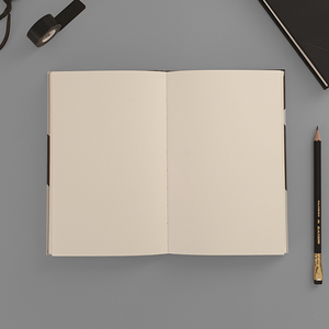 KaRiniTi - A two-way Gray Hardcover notebook, so you can write from right to left or left to right. ▲ 13 cm - 20 cm ▲ 80 gr Creame Paper ▲ 80 Pages ▲ 40 Pages LINED ▲ 40 Pages DOT GRID ▲ Envelope included