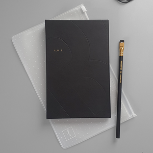 KaRiniTi - In this Gift Set you'll find:  ▲ Plan A/B Notebook: Black/Gray, Lined and Dot Grid pages/Blank pages  ▲ Transparent Zip Case - Medium  ▲ Palomino - Blackwing Pencil