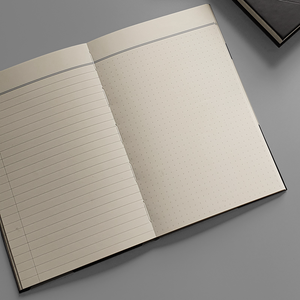 KaRiniTi - A two-way Hardcover PU notebook, so you can write from right to left or left to right. ▲ 13 cm - 20 cm ▲ 80 gr Creame Paper ▲ 80 Pages ▲ 40 Pages LINED ▲ 40 Pages DOT GRID ▲ Envelope included