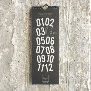 KaRiniTi Design studio, Obsessions with stationery products and paper goods. Perpetual Calendar  Yearly Calendar for your special dates  Hi-quality 300 gr paper 30 cm X 10.5 cm With a hook for hanging.