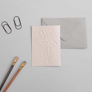 "KaRiniTi Greeting Cards - Trio Pack:  ""LOVE"" - ECO Grape Paper   ""CONGRATULATION"" - ECO Corn Paper   ""HAPPY BIRTHDAY"" - ECO Orange Paper      ▲ 250 g.  ▲ 10.5-14.5 cm (when folded)  ▲ Soft Gray envelope included     A beautiful way to show you are thinking about the small details."