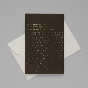 Greeting Card - Happy Happy Holiday - KaRiniTi