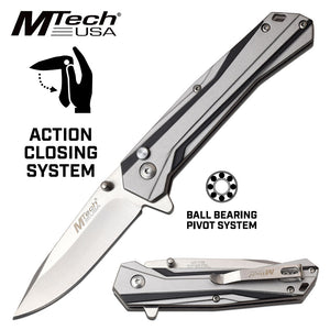 ACTION CLOSING - BALL BEARING PIVOT KNIFE  (M335) MT-1109GY