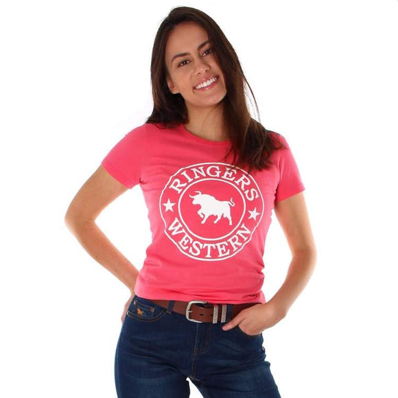 Ringers Western Curl Curl Womens Classic T Shirt Coral