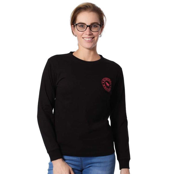 Kempsey Womens Long Sleeve T-Shirt Black