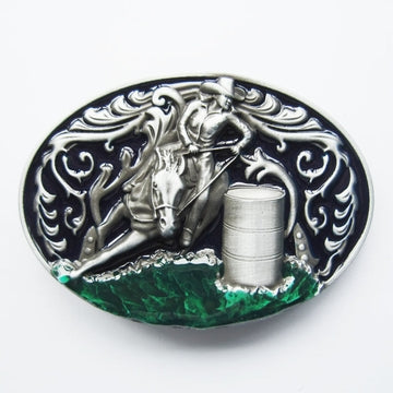 Belt Buckle - Barrel Racer