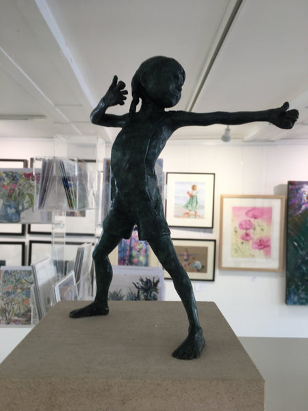 Royal British Society of Sculptors artist Alison Bell is exhibiting the 'Wee Souls' bronze sculpture collection in the gallery!