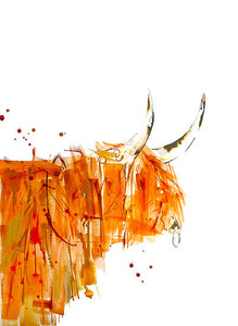 Lisa Fenton 'Robbie Highland Cow' A3