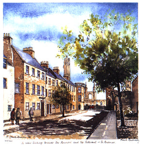 Frank Sproson 'A View Looking Towards the Roundel and the Cathedral, St. Andrews'