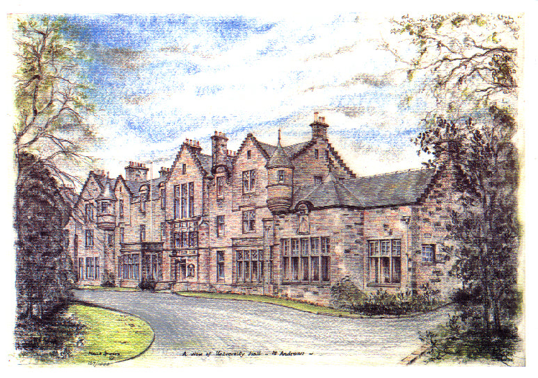 Frank Sproson 'A View of University Hall, St. Andrews'