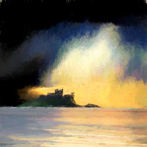 Ian Ledward 'Bamburgh in Evening Light'