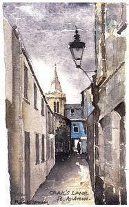 Frank Sproson 'Crail's Lane, St. Andrews'