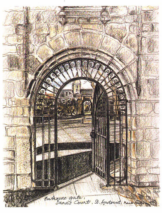 Frank Sproson 'Entrance Gate, Deans Court, St. Andrews'