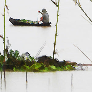 Ian Ledward 'Harvesting in the Mekong'