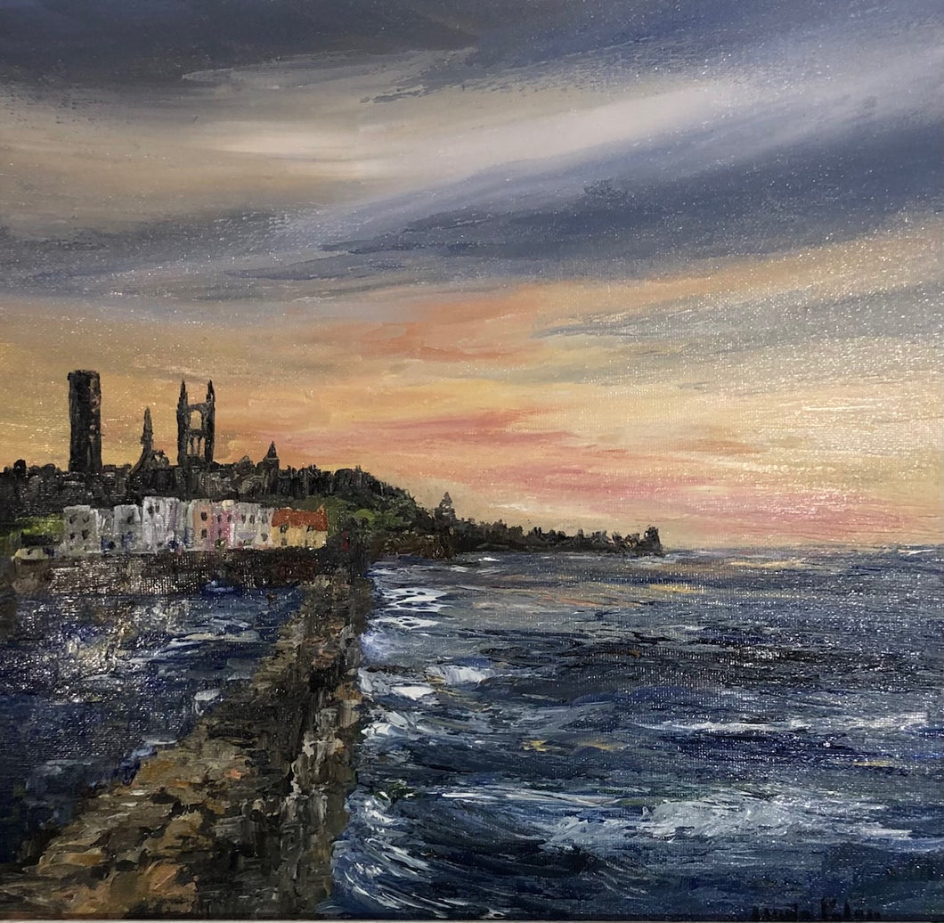 Linda Paton 'Sunset at the Harbour'