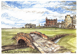 Frank Sproson 'The Swilcan Bridge Looking Towards the Royal and Ancient Golf Club of St. Andrews'